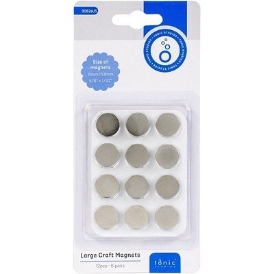 Tonic - Craft Magnets Large 15mm - 12 pack