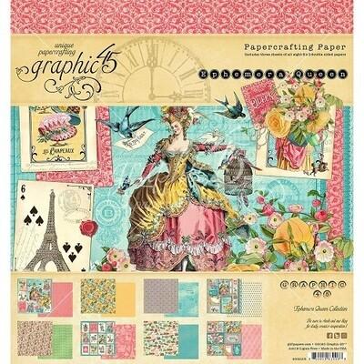 Graphic 45 - Ephemera Queen 12 x 12 Collection Pack