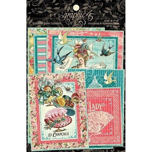 Graphic 45 - Ephemera Queen Journalling & Ephemera Pack