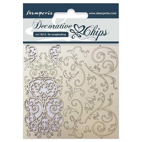 Stamperia - Decorative Chips 14 x 14 cm - Tapestry