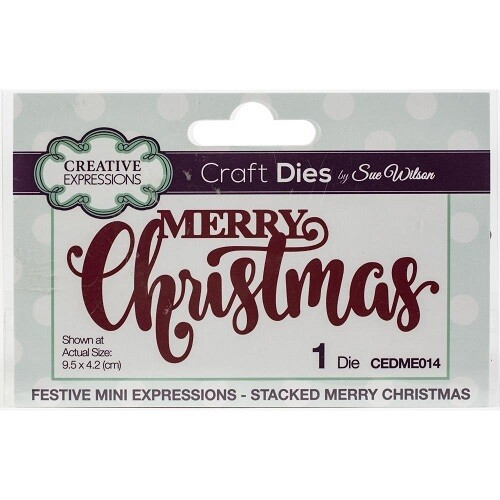 Creative Expressions by Sue Wilson - Stacked Merry Christmas Die