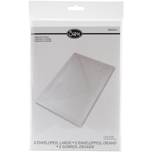 """Sizzix - Storage Envelopes for Metal Dies -  2 Pack - 9"""" x 6 1/4"""""""