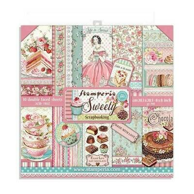 Stamperia - Sweety Collection 8 x 8 Scrap Pad