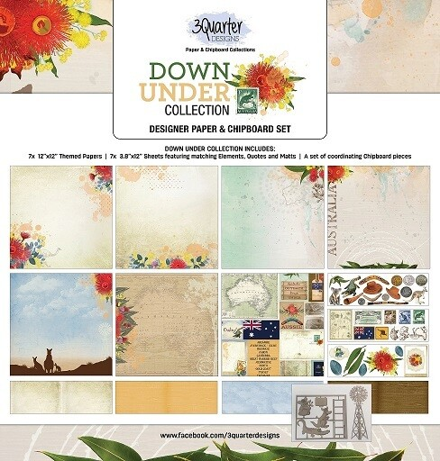 3 Quarter Designs 12 x 12 Collections -Down Under