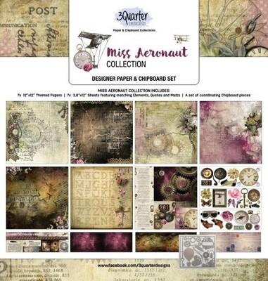 3 Quarter Designs 12 x 12 Collections -Miss Aeronaut