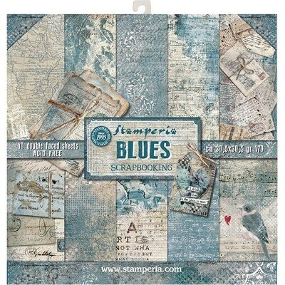 Stamperia - Blues 12 x 12 Collection