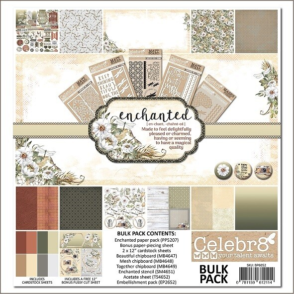 """Celebr8 - Enchanted  12"""" x 12  Collection Pack"""