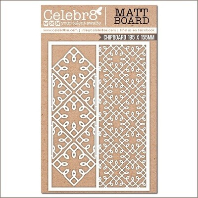 Celebr8 - Mesh Patterns Chipboard