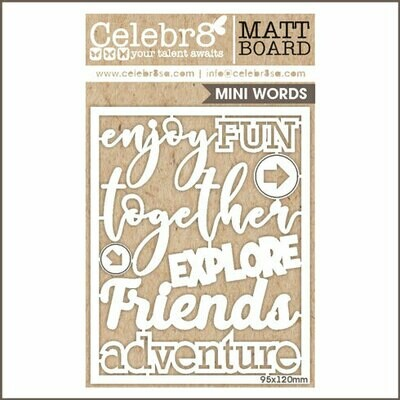 Celebr8 - Mini Words Adventure Chipboard
