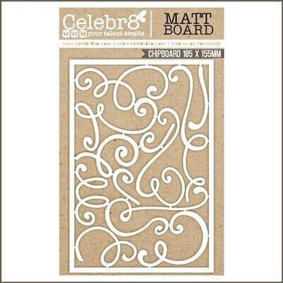 Celebr8 - Swirls Chipboard