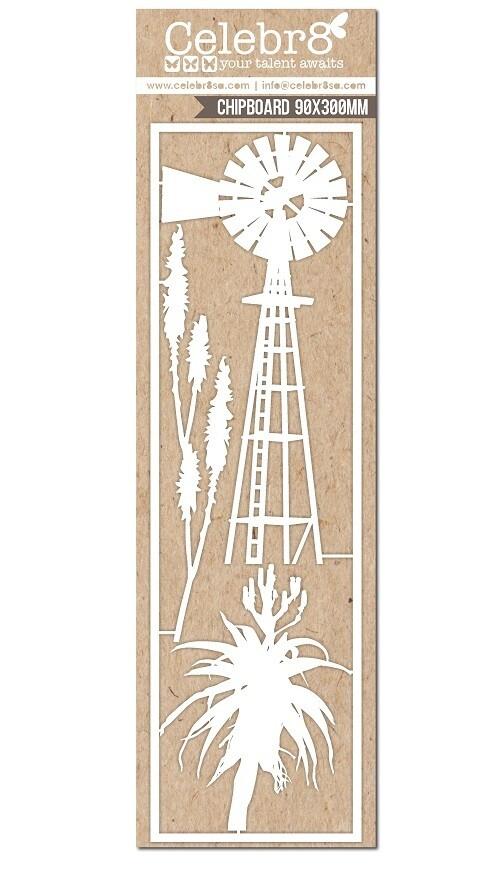 Celebr8 - Windmill Aloe Chipboard