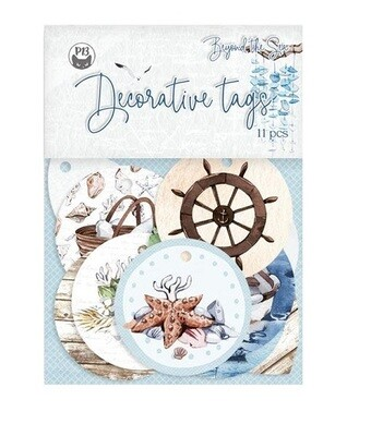 P13 - Beyond The Sea -Decorative Tags - 11 pieces
