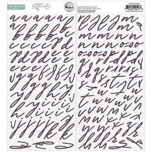 PinkFresh Studio - Days of Splendour - Puffy Alphabet Stickers.  136 Pieces