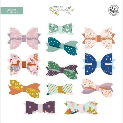 PinkFresh Studios - Days of Splendour Fabric Bows. 12 Bows