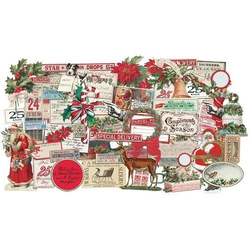 Tim Holtz - Idea-ology - Christmas Noel - Ephemera - TH94086 - 57pcs