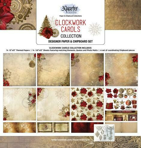3 Quarter Designs - 12 x 12 Collections - Clockwork Carols