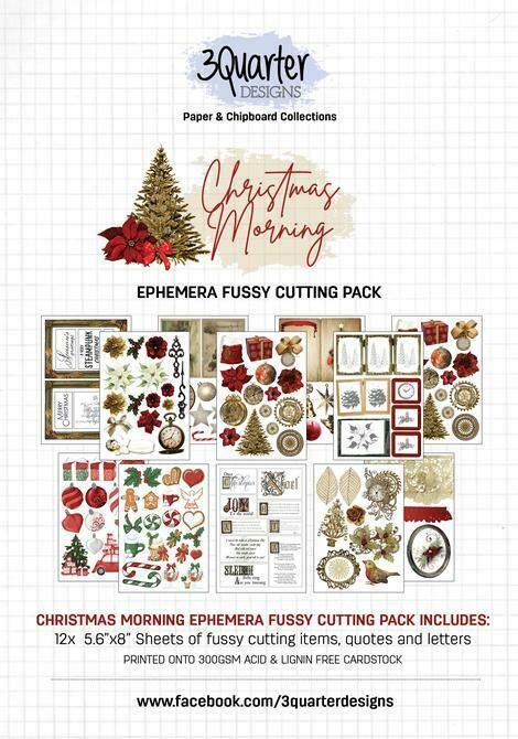 3 Quarter Designs - Ephemera Fussy Cutting Pack -Christmas Morning