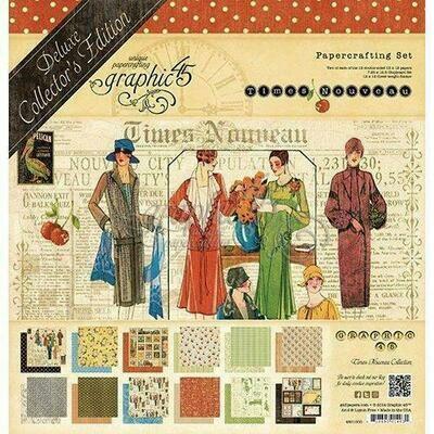 Graphic 45 -Times Nouveau Collectors Pack 12 x 12
