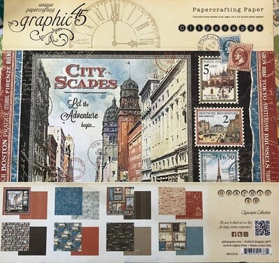 Graphic 45 -Cityscapes 12 x 12 Collection