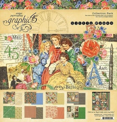 Graphic 45 -Little Women Collection Pack 12 x 12