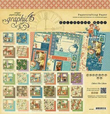 Graphic 45 -Children's Hour 8 x 8 Scrap Pad