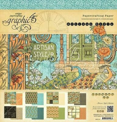 Graphic 45 - Artisan Style 8 x 8  Scrap Pad