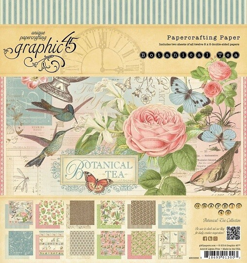 Graphic 45 -Botanical Tea 8 x 8 Scrap Pad