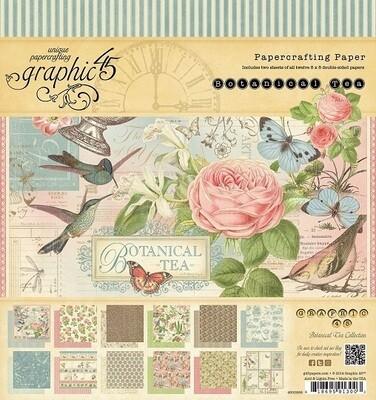 Graphic 45 -Botanical Tea 8 x 8 Scrap Pad