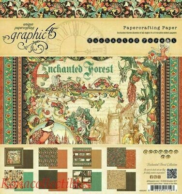 Graphic 45 - Enchanted Forest 8 x 8  Scrap Pad