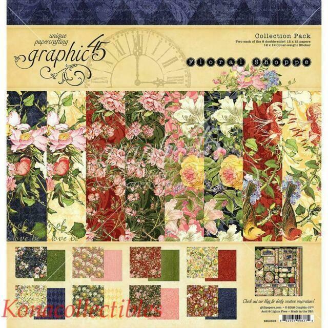 Graphic 45 - Floral Shoppe 8 x 8  Scrap Pad