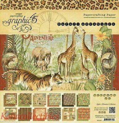 Graphic 45 -Safari Adventure 8 x 8 Scrap Pad