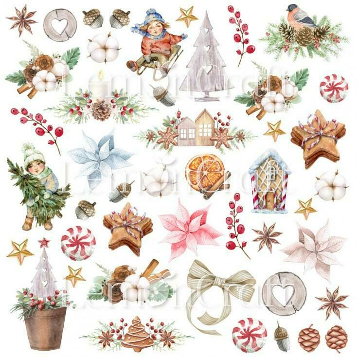 Lemoncraft - This Christmas Collection - Fussy Cutting Sheet 07