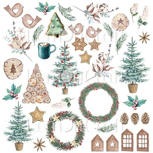 Lemoncraft - This Christmas Collection - Fussy Cutting Sheet 08