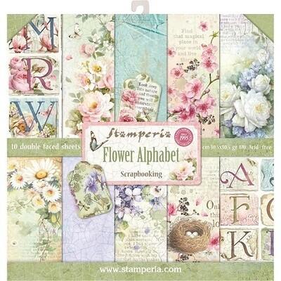 Stamperia - Flower Alphabet 12 x 12 Collection