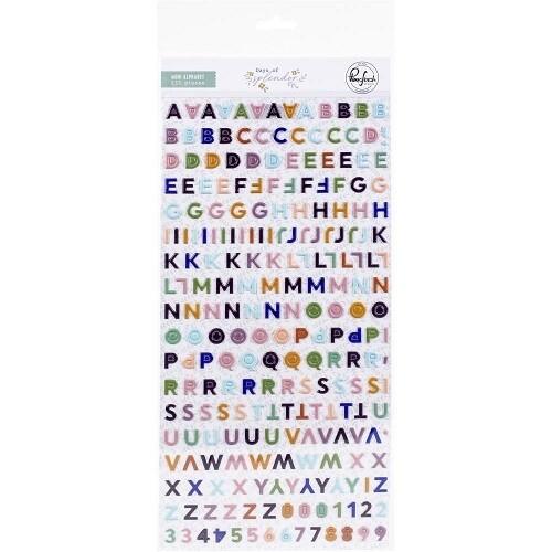 PinkFresh Studio - Days of Splendour - Puffy Alphabet Minis