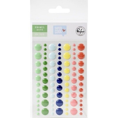 PinkFresh Studio - Enamel Self Adhesive Dots - Super Cool Collection