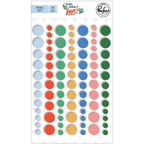 PinkFresh Studio - Enamel Self Adhesive Dots - Oh What Fun Collection