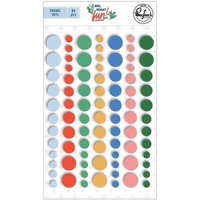 PinkFresh Studio - Enamel Self Adhesive Dots - Oh What Fun Collection