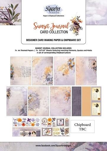 3 Quarter Designs - Card Making Kit - Sunset Journal Collection