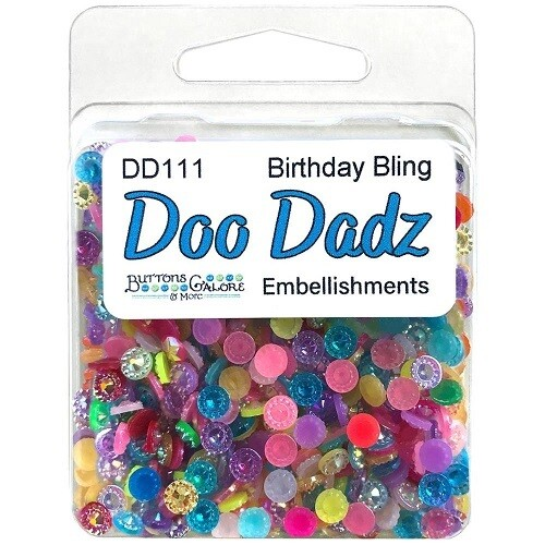 Buttons Galore Doo Dadz - Birthday Bling