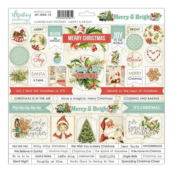 Mintay - Merry & Bright- Cardboard Stickers 12 x 12 Sheet