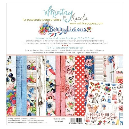 Mintay By Karola - Berrylicious Collection - 12 x 12 Papers