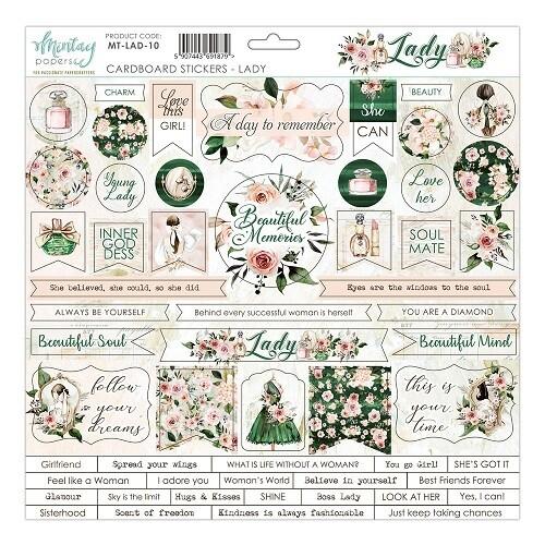 Mintay - Lady - Cardboard Stickers 12 x 12 Sheet