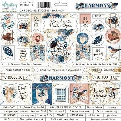 Mintay - Harmony - Cardboard Stickers 12 x 12 Sheet