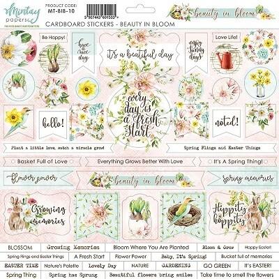 Mintay - Beauty In Bloom - Cardboard Stickers 12 x 12 Sheet