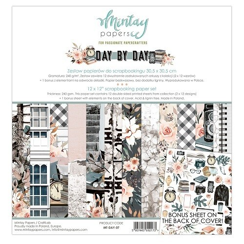 Mintay By Karola - Day By Day Collection - 12 x 12 Papers
