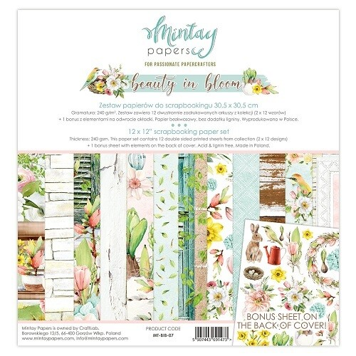 Beauty In Bloom By Mintay 12 x 12 Collection