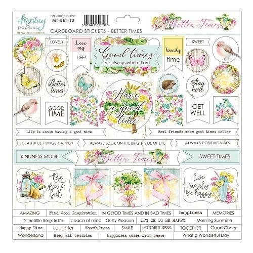 Mintay By Karola - Better Times - Cardboard Stickers - 12 x 12 Sheet