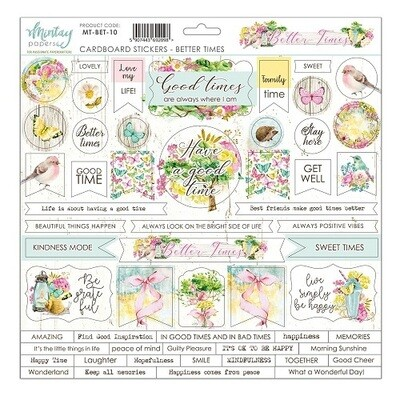 Mintay - Better Times- Cardboard Stickers 12 x 12 Sheet