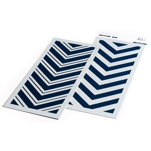 PinkFresh Studios - Double  Chevron (2 pce) PFST08